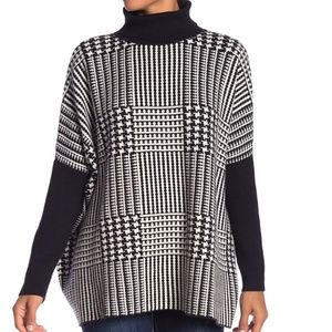 NWT Joseph A houndstooth turtleneck sweater soft